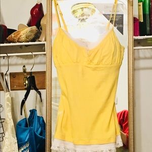 Energie Yellow and White Cami Top